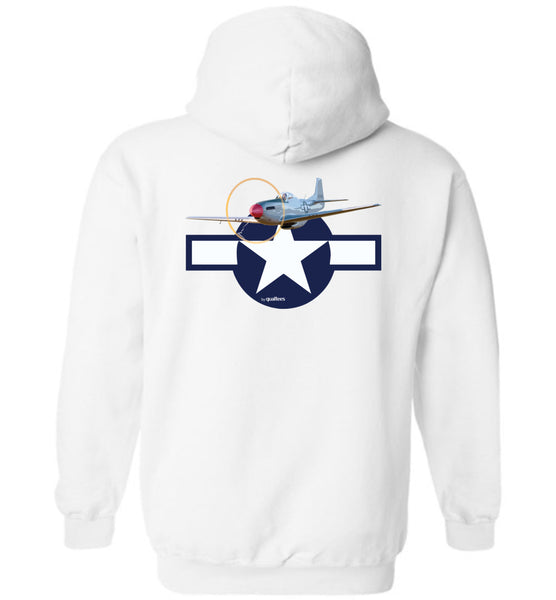 WWII - P-51 Mustang - Cotton agus Polyester Hoodie