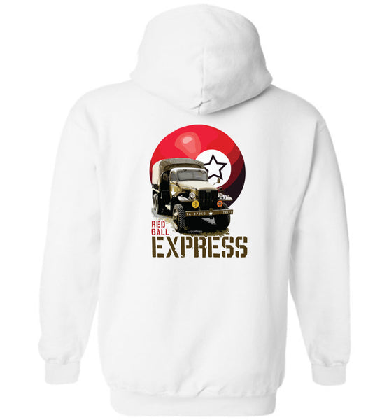 CCKW Red Ball Express - Hoodie Cotton agus Polyester