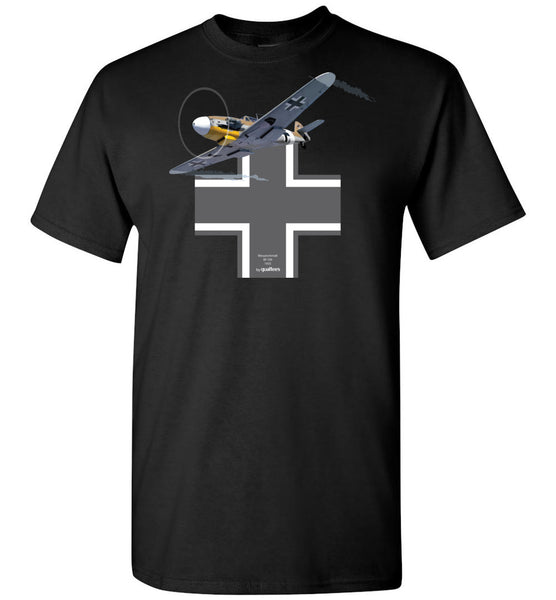 WWII - Messerschmitt Bf 109 v.1 - Cotton T-Shirt