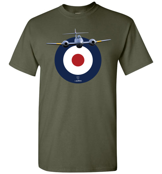 Legendary Jet Fighters - Gloster Meteor - Bómull T-Shirt
