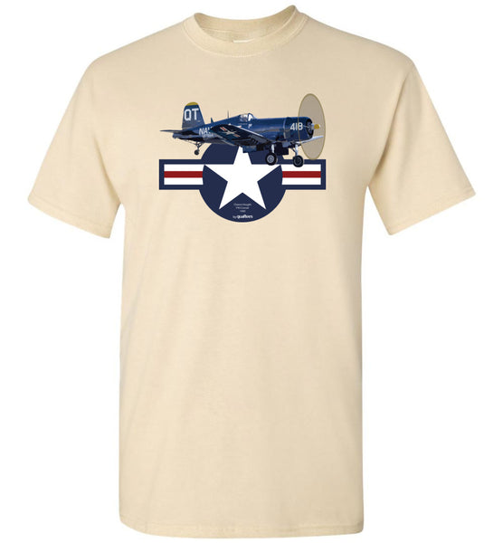 WWII - F4U Corsair v.3 - Unisex / Men / Börn Cotton T-Shirt
