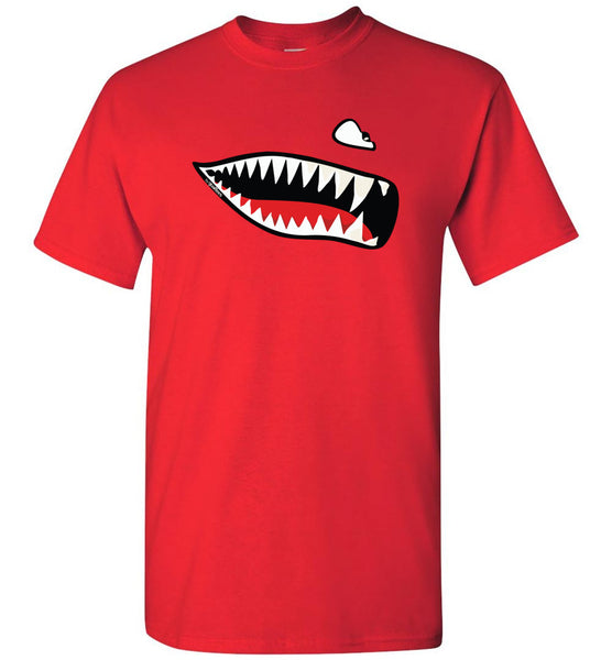 Flying Tigers - Shark Mouth - Cotton T-Shirt