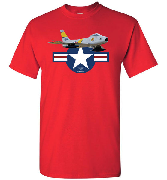 Legendary Jet Fighters - F-86 Saber - Camiseta de algodón