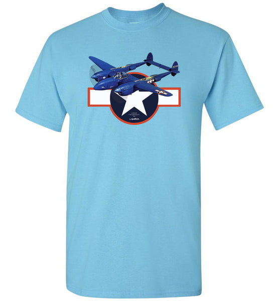 WWII - P-38 Lightning (F5) - Cotton T-Shirt