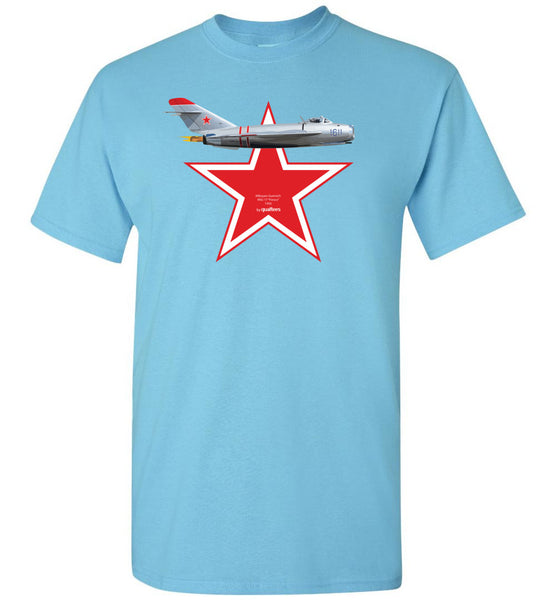 "Legendary Jet Fighters - Mig-17 ""Fresco"" v.2 - Camiseta de algodón"
