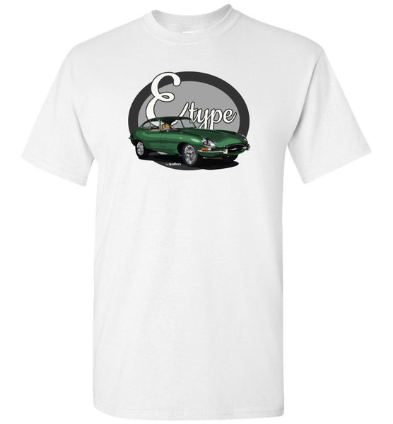 Legends - E-type (Green) - Unisex / Men / Children Cotton T-Shirt