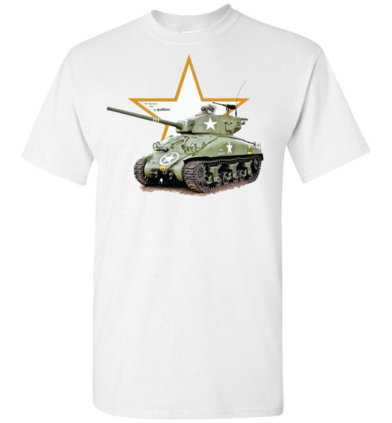 Legendary Fighting Vehicles - M4 Sherman - Camiseta de algodón