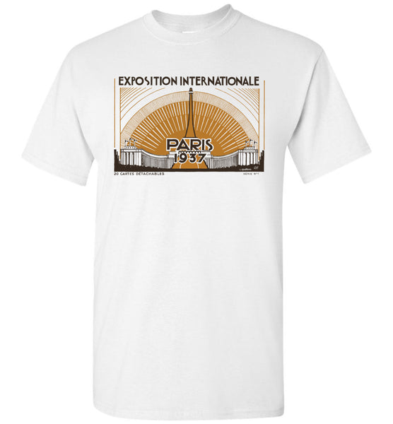 Expo Intl Paris 1937 Postal - Cotton T-Shirt