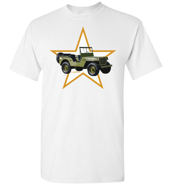 Red Ball Express - Willis Jeep (Orange Star) - Camiseta de algodón