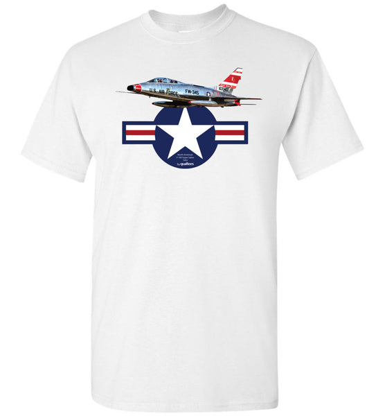 Legendariske Jet Fighters - F-100 Super Saber - Cotton T-Shirt