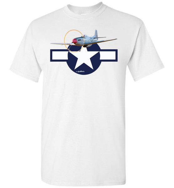 WWII - P-51 Mustang - Unisex/Men/Children Cotton T-Shirt