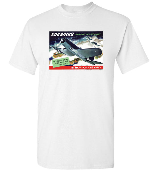 CORSAIRS into the Fight - Unisex / Heren / Kinderen katoenen T-shirt