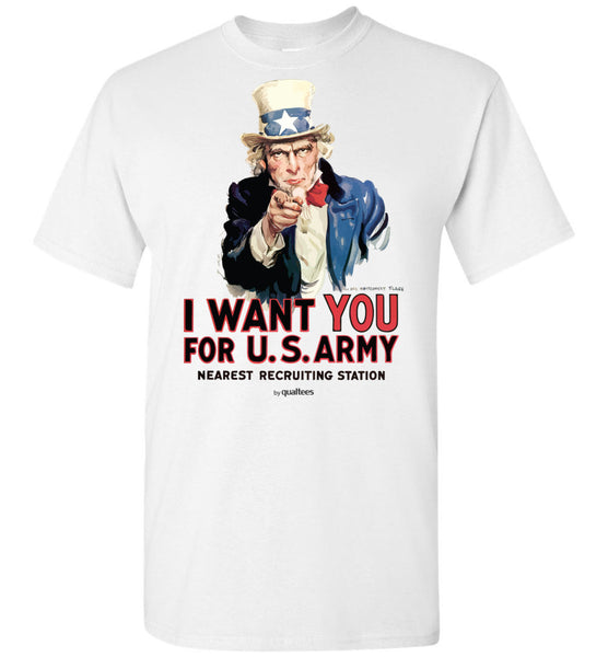 War Effort - I WANT YOU Army - Unisex / Men / Children Cotton T-Shirt