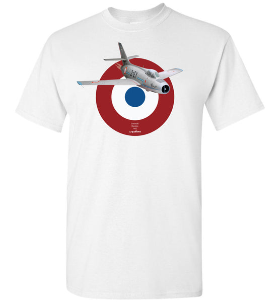 Legendäre Jet Fighters - Dassault Mystère - Baumwoll-T-Shirt