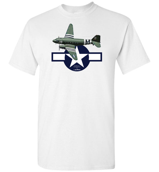 WWII - C-47 Skytrain (Dakota) - Unisex / Män / Barn Cotton T-Shirt