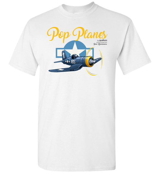 Pop Planes - Corsair - Unisex / Dynion / Crys-T Cotton Plant