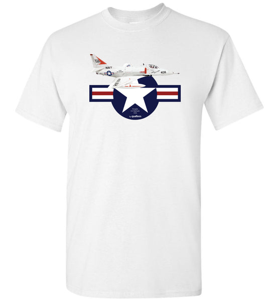 Legendary Jet Fighters - A-4 Skyhawk - Camiseta de algodón