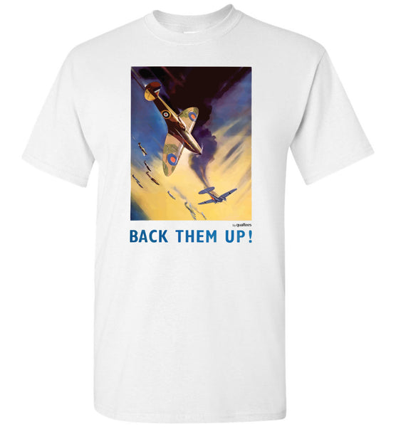 Poster War Effort - BACK THEM UP - T-shirt di cotone