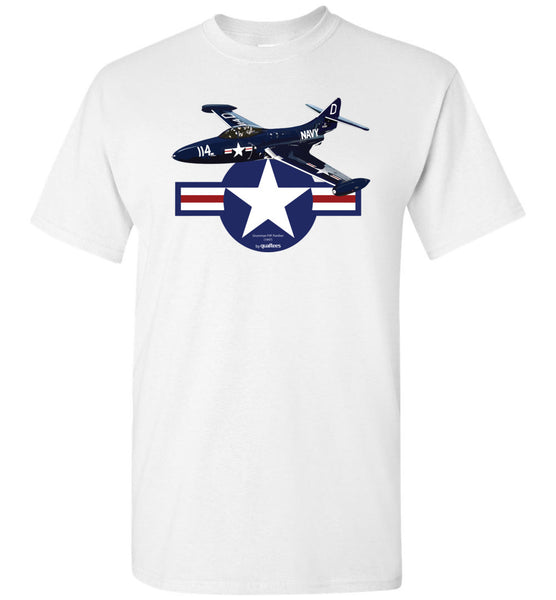 Legendary Jet Fighters - Grumman F9F Panther - Cotton T-Shirt
