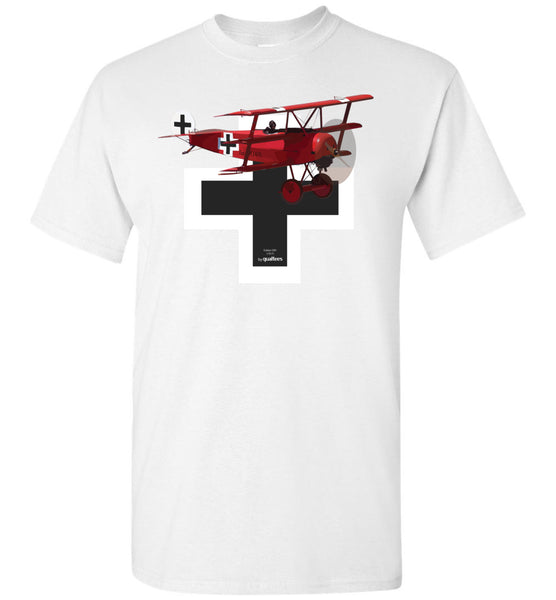 WWI - Fokker Dr.1 (Baron Dearg) - T-Shirt Cotton