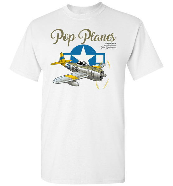 Pop Planes - Thunderbolt - Unisex / Men / Children Cotton T-Shirt