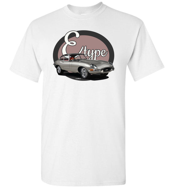 Legends - E-Type (Silver) - Unisex / Men / Children Cotton T-Shirt