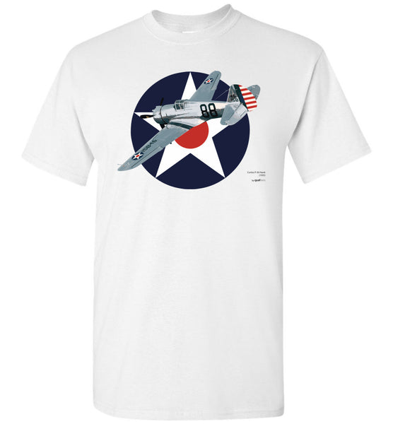 WWII - P-36 Hawk - Unisex/Men/Children Cotton T-Shirt