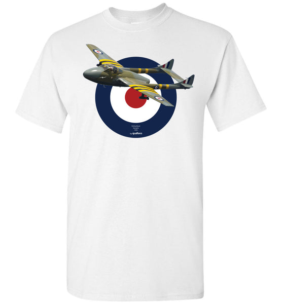 Legendary Jet Fighters - de Haviland Vampire - Cotton T-Shirt