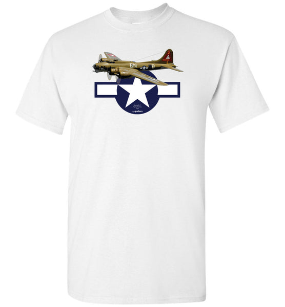 Dara Cogadh - B-17 Fort Fort Flying v2 - T-Shirt-cotton
