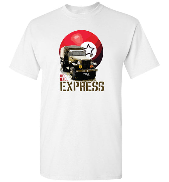 Automobile Icons - Red Ball Express CCKW - Unisex/Men/Children Cotton T-Shirt