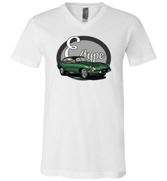 Legends - E-type (Green) - Cotton V-Neck Shirt