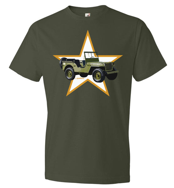 Red Ball Express - Willis Jeep (Orange Star) - Cotton T-Shirt