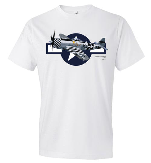 WWII - P-47 Thunderbolt - Fashion Men Cotton T-Shirt
