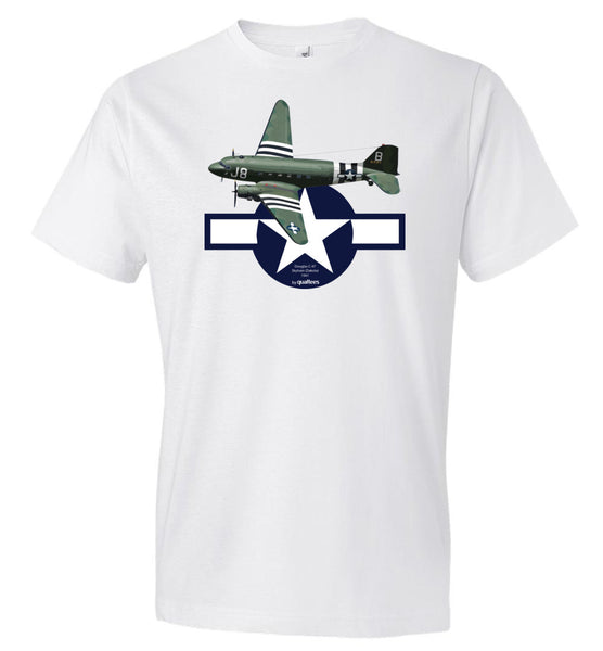 WWII - C-47 Skytrain (Dakota) - Fashion Men Cotton T-Shirt