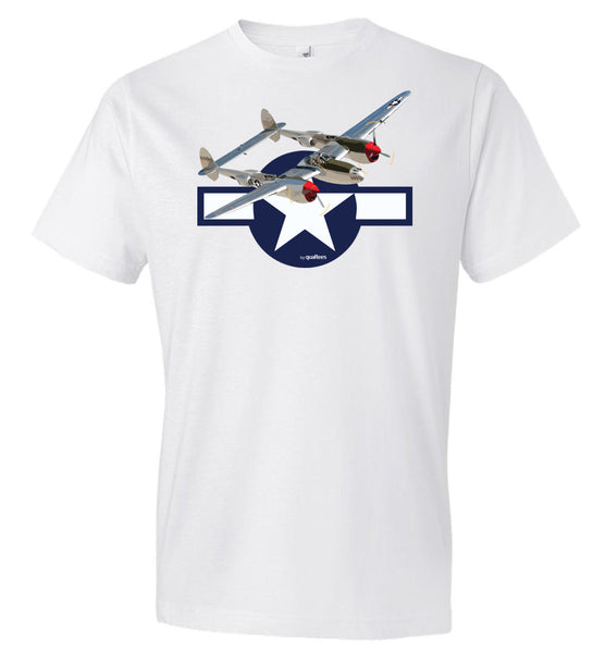 WWII - P-38 Lightning v.2 - Fashion Men Cotton T-Shirt