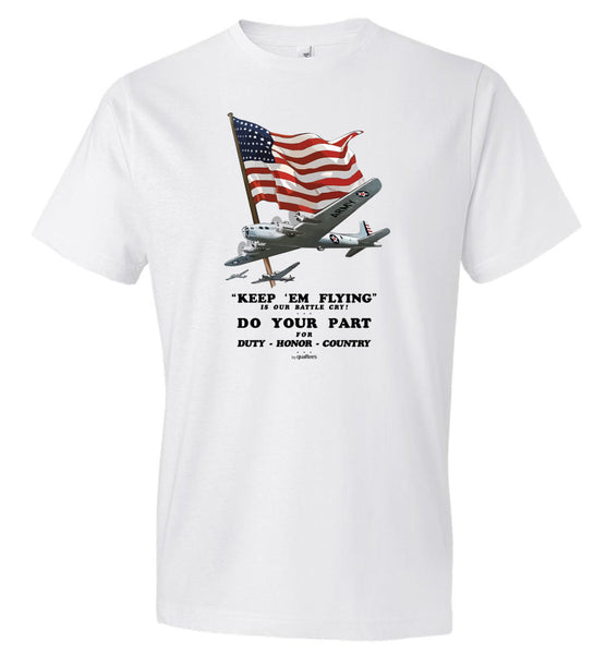 WWII - Keep Em Flying - Fashion Men Cotton T-Shirt