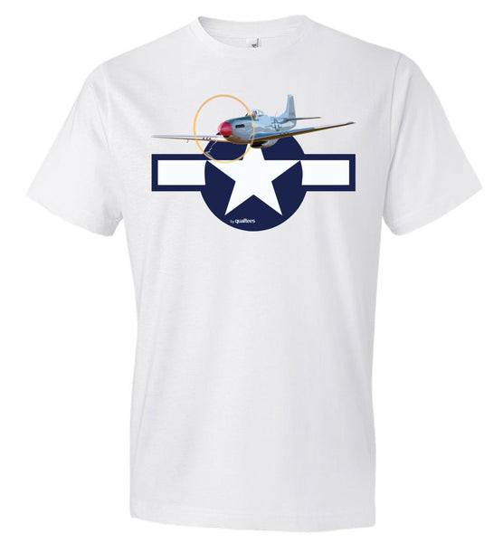 WWII - P-51 Mustang - Fashion Men Cotton T-Shirt