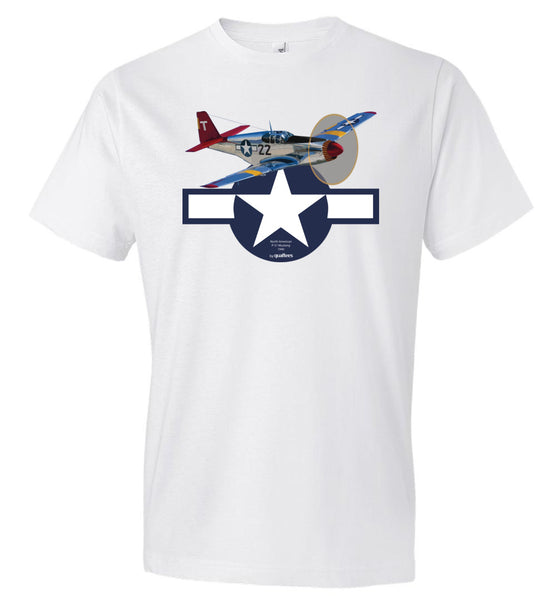 WWII - P-51 Mustang (Red Tails) - Fashion Men Cotton T-Shirt