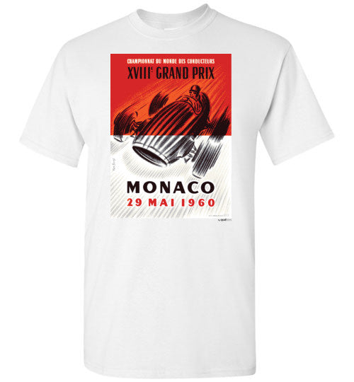 Mónakó GP 1960 - Unisex / Men / Börn Cotton T-Shirt