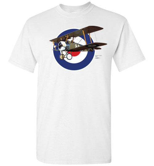 WWI - Sopwith F.1 Camel - Unisex / Herre / Børn Cotton T-Shirt
