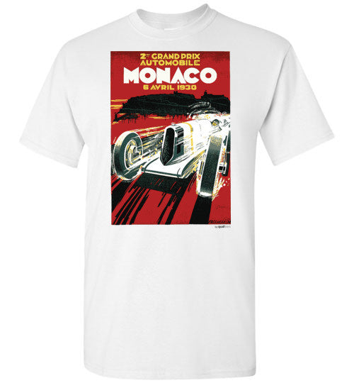 Mónakó GP 1930 - Unisex / Men / Börn Cotton T-Shirt