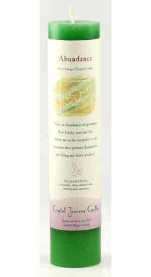 Reiki Charged Pillar Candle,  Abundance