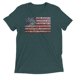Pledge of Allegiance (Triblend t-shirt)
