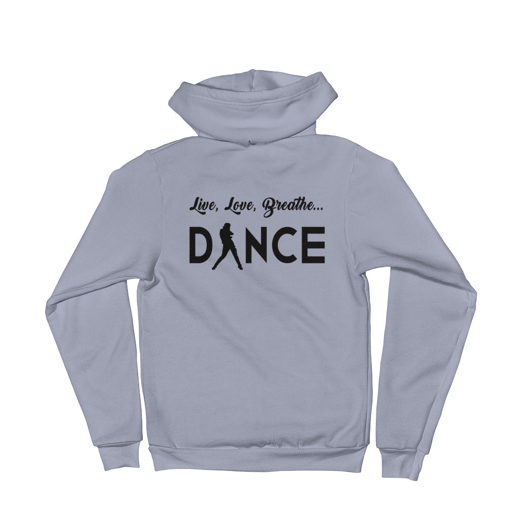 Live, Love, Breathe, Dance (Zip-Up Hoodie)
