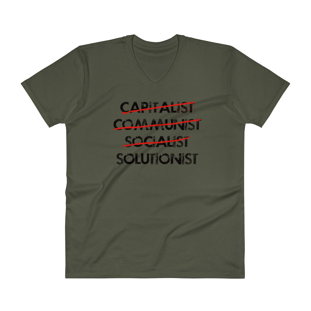 Solutionist (Masculine V-Neck T-Shirt)