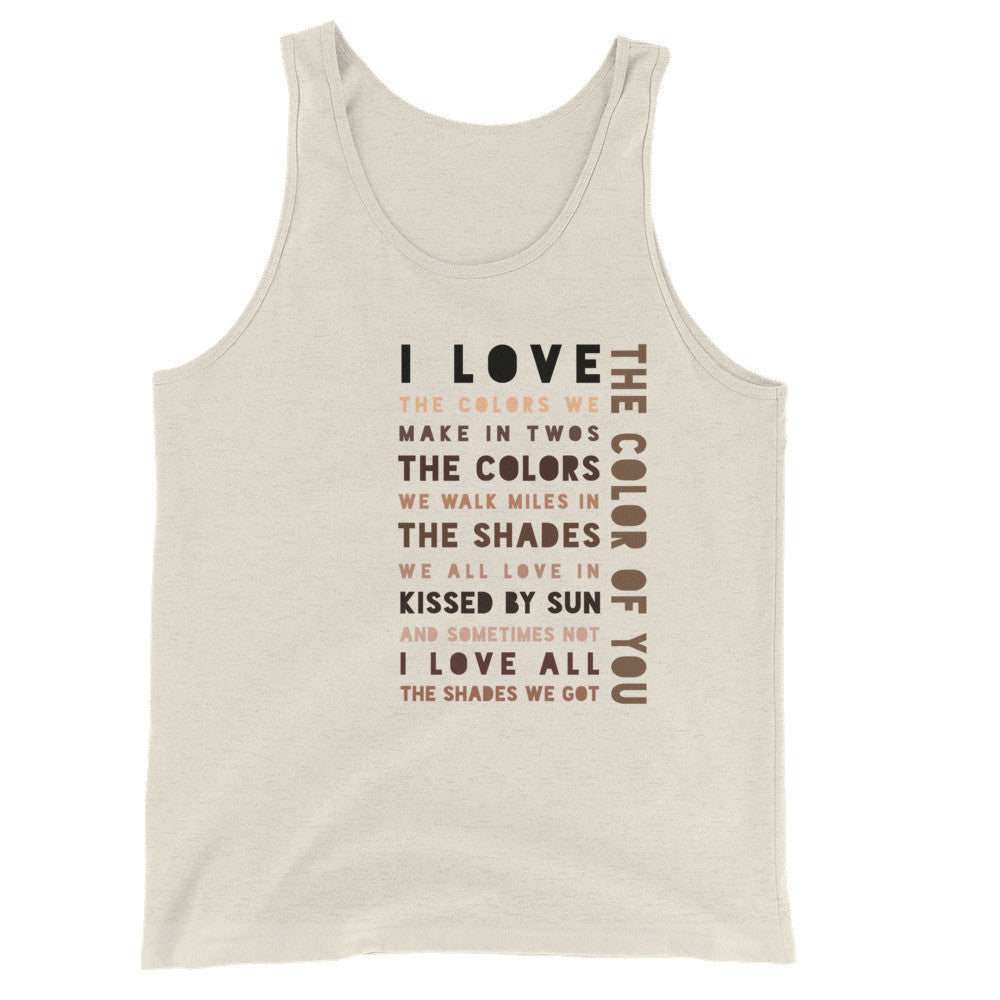 The Color of You (Unisex  Tank Top)