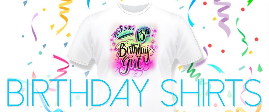 CUSTOM AIRBRUSH BIRTHDAY SHIRTS FOR ANY THEME Tagged Rainbow