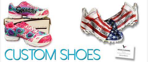 Custom Airbrush Shoes Tagged Ovarian Cancer Airbrush Brothers