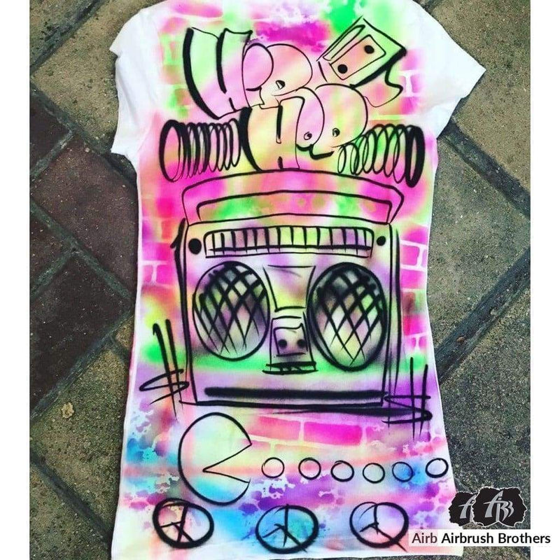 airbrush custom spray paint  Airbrush 90's Shirt Design shirts hats shoes outfit  graffiti 90s 80s design t-shirts  Airbrush Brothers Shirt