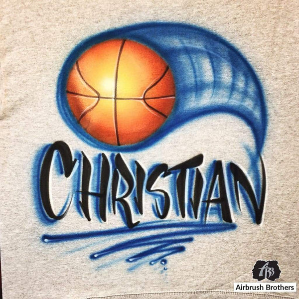 airbrush custom spray paint  Airbrush Basketball Design shirts hats shoes outfit  graffiti 90s 80s design t-shirts  AirbrushBrothers Shirt